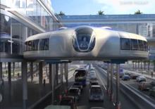 Il futuro dei trasporti guida sopra il traffico [Video]