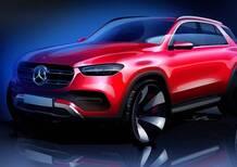 Mercedes GLE, diffuso un bozzetto