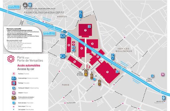 La mappa dei parcheggi per il Salone di Parigi