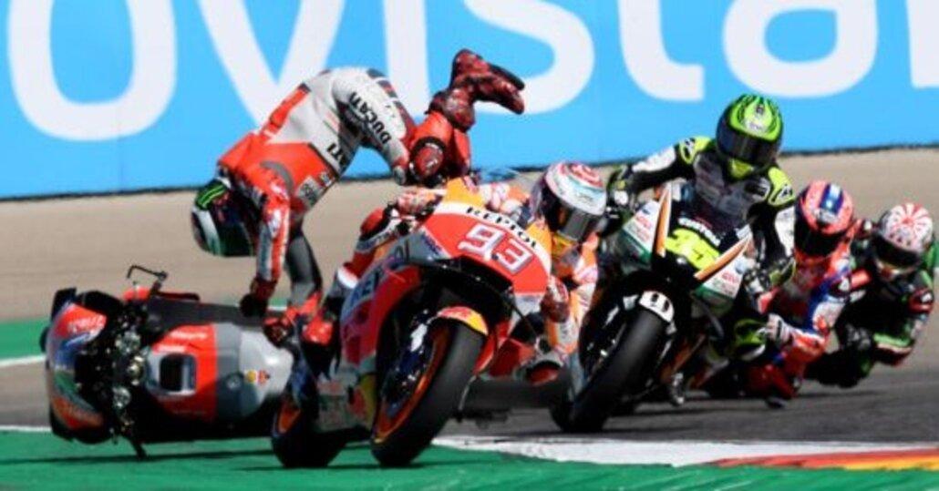 MotoGP 2018. Lorenzo: Sono caduto per colpa di Márquez