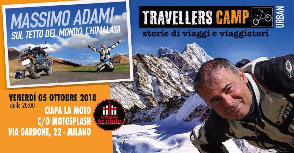 Massimo Adami e l'Himalaya venerdì da Ciapa la Moto