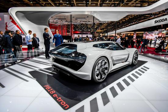 Audi PB18 e-tron al Salone di Parigi 2018