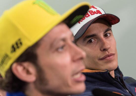MotoGP, Qatar 2016. Rossi-Marquez: gelo totale!
