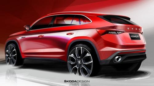 Skoda Kodiaq GT, i primi disegni del SUV coupé per il mercato cinese (3)