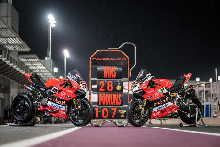 Il saluto del team Ducati alla Panigale R bicilindrica