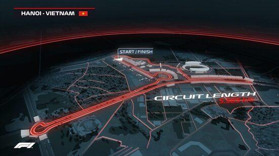 Il layout del circuito cittadino di Hanoi