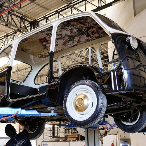 Fiat 600 Multipla by Garage Italia, un affresco sul cielo (3)