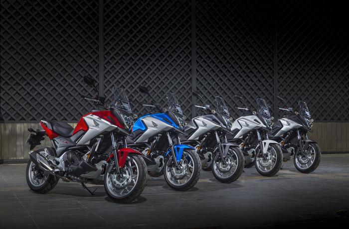 Le cinque colorazioni della Honda NC750X