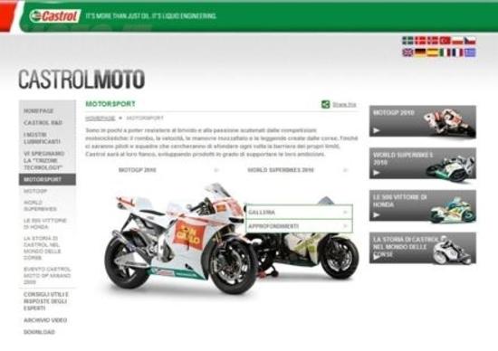 Online su Castrolmoto.it la nuova sezione Motorsport