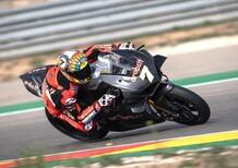 Test SBK. Debutto positivo per la Panigale V4 ad Aragon