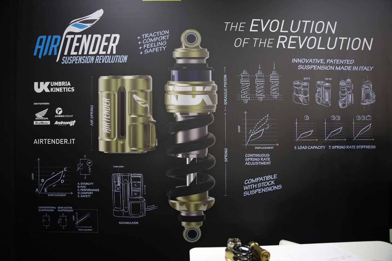 EICMA 2018: Airtender, la sospensione senza ammortizzatore