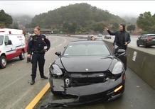 Il video della Porsche di Stephen Curry centrata da una Lexus e una Honda in California