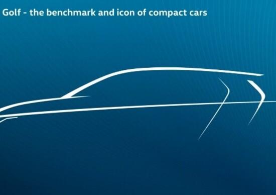 Volkswagen Golf, il teaser dell'ottava generazione