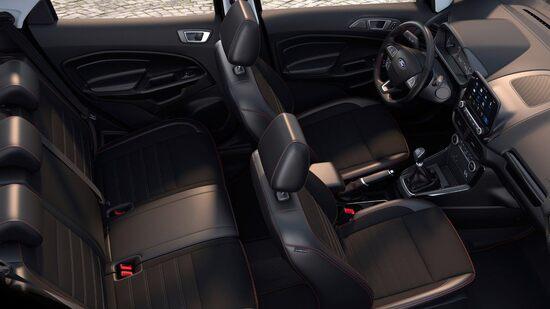 Abitacolo Ford Ecosport: non manca lo spazio