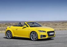 Audi TT, i prezzi della coupé e della roadster per il 2019