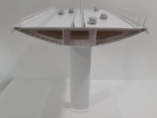 La maquette del nuovo viadotto Polcevera di Renzo Piano