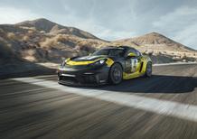 Nuova Porsche 718 Cayman GT4, più veloce ed ecologica [Video]