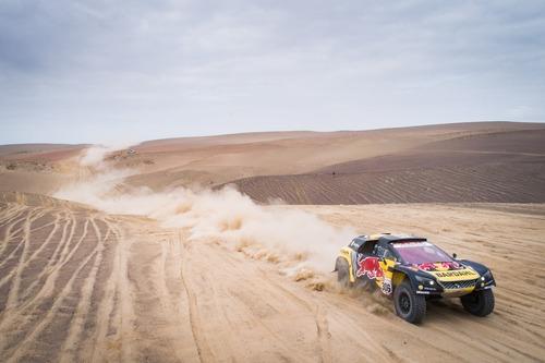 Dakar Perù 2019 Loeb-Peugeot. Non il giorno ideale per affrontare il Rally nel caos (6)