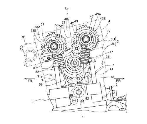 Honda, brevetto per fasatura variabile. In arrivo la nuova V4? (3)