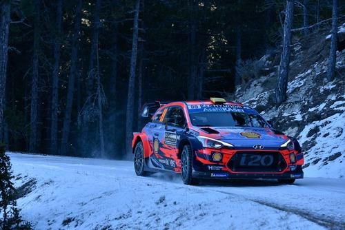 WRC19, Monte-Carlo. Roba da Chiodi, Ogier (Citroen) in Testa (2)