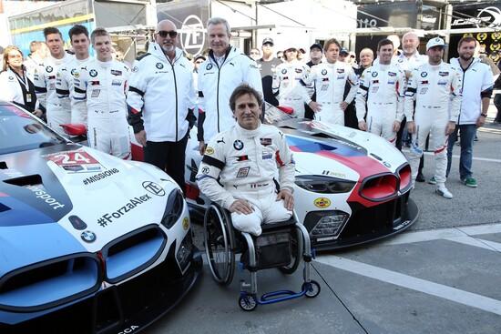La squadra ufficiale BMW alla 24 ore di Daytona 2019