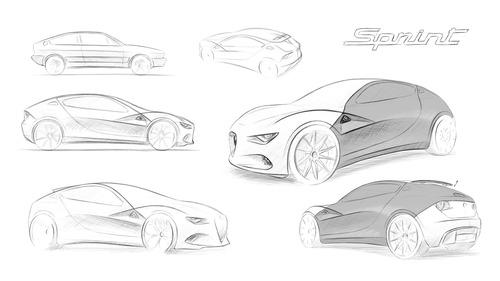 Fantasie Alfa Romeo, Cuore Sportivo Elettrico: nuova Alfasud E-Sprint (GT EV) (6)