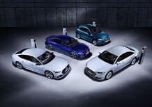 Audi A8, A7 Sportback, A6 e Q5 TFSI e, le ibride plug-in al Salone di Ginevra 2019