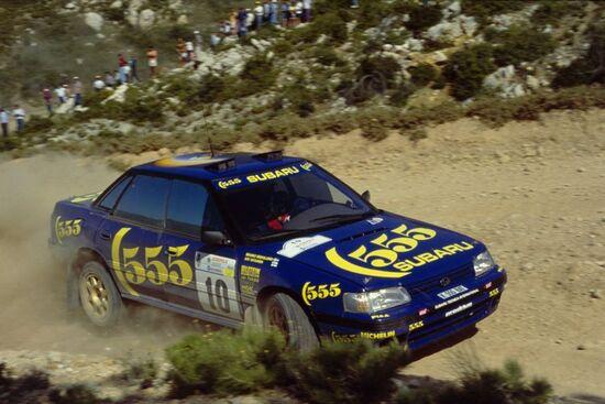 Una delle ultime versioni della Subaru Legacy RS prima dell'arrivo dell'Impreza