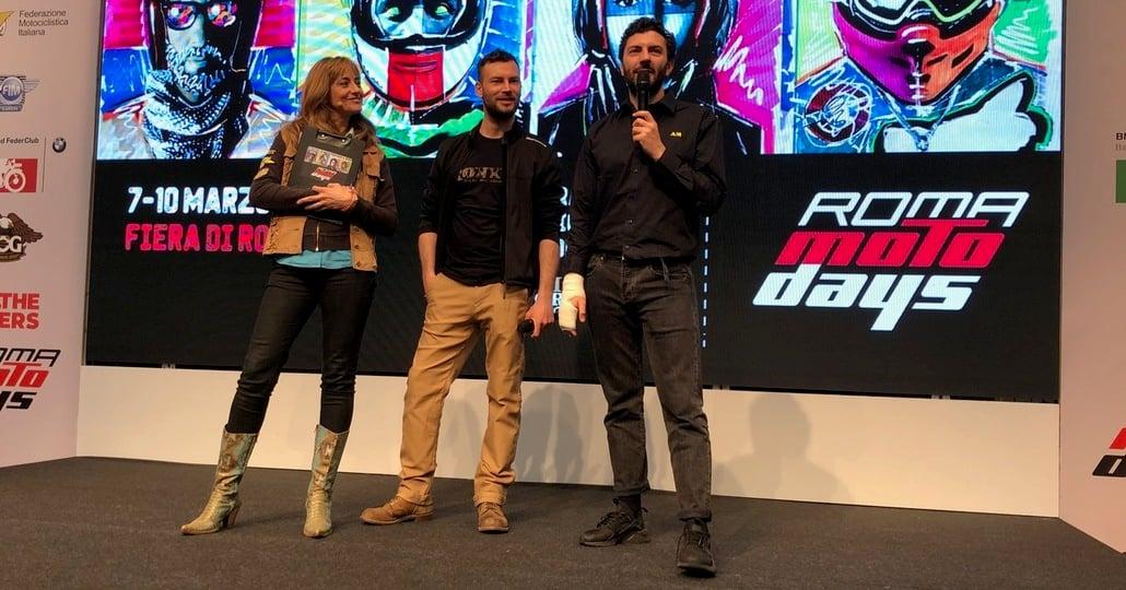 Roma Motodays 2019. Ernesto D'Argenio ospite sul palco Welcome Bikers