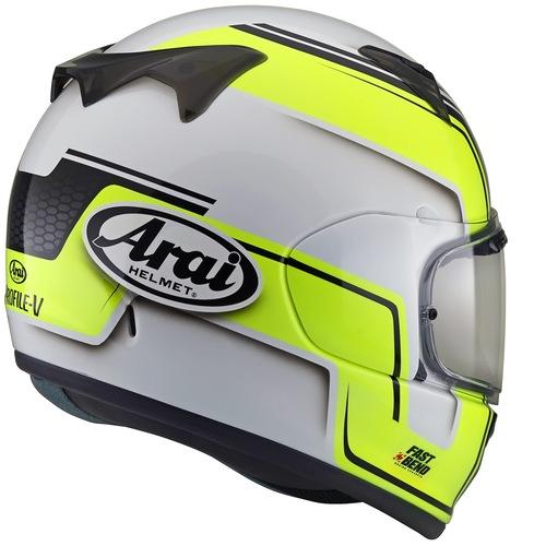 Arai Profile V con grafica Bend Yellow