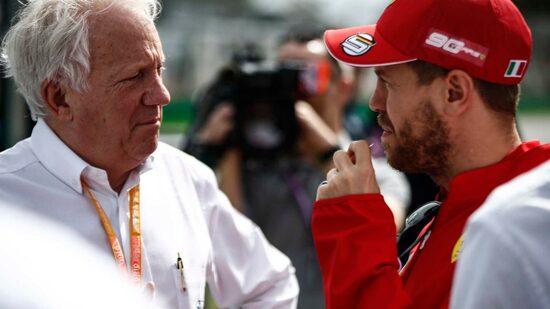 Charlie Whiting con Sebastian Vettel