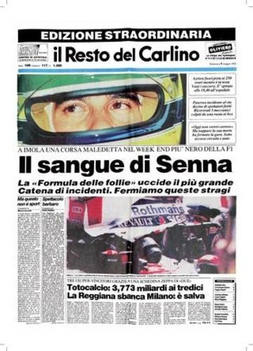 F1: Senna, 25 anni dopo: i titoli dei giornali dell'epoca (7)
