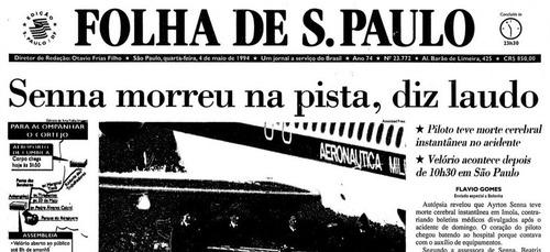 F1: Senna, 25 anni dopo: i titoli dei giornali dell'epoca (5)
