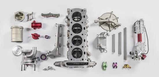 Il basamento della M4 DTM in pezzi