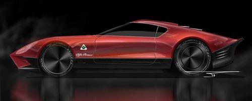 Alfa Romeo LEA, ipotesi sulla nuova 8C (2)