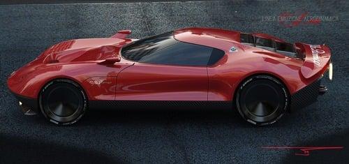 Alfa Romeo LEA, ipotesi sulla nuova 8C (4)