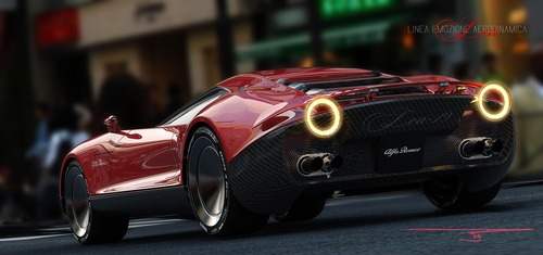 Alfa Romeo LEA, ipotesi sulla nuova 8C (7)