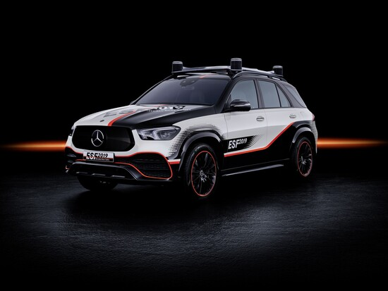 La scocca personalizzata della Mercedes GLE ESF 2019