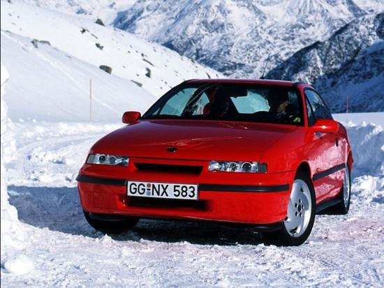 In versione 4x4 la Calibra era una coupé buona anche per la stagione invernale