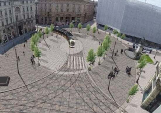 Milano: Piazza Cordusio, sì alla riqualificazione. Maxi isola pedonale