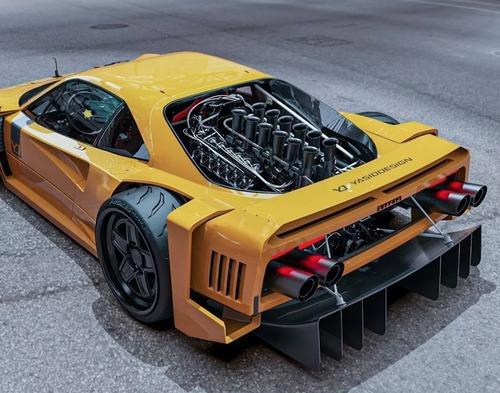 La spettacolare Ferrari F40 V12 di Yasid Design (4)
