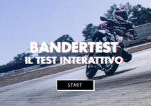 Kawasaki Z125 Bandertest, la prova interattiva