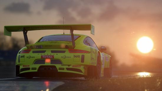 La più difficile e ostica da portare al limite, la Porsche 911 GT3 R regala però un sound incredibile