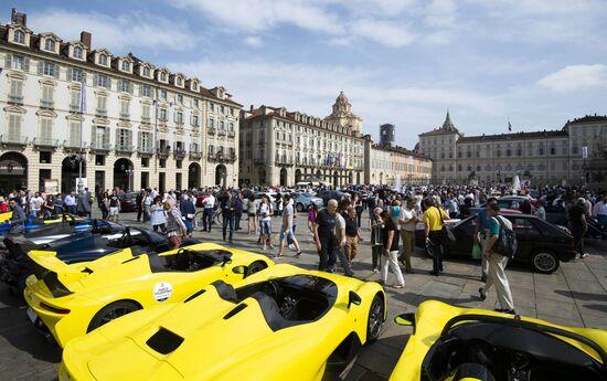 Un'immagine del Salone dell'Auto di Torino al Parco Valentino