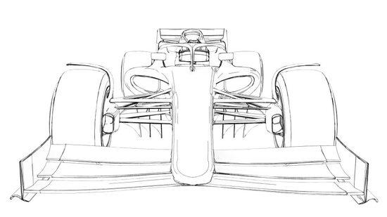Uno schizzo della monoposto 2021 di F1 diffuso dalla FIA