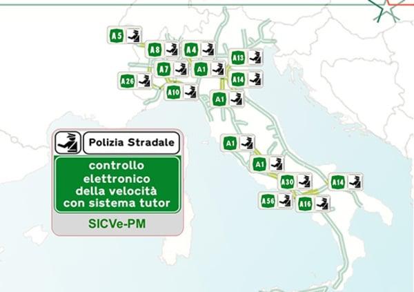Cartina D Italia Autostradale.Tutor Attivi In Autostrada La Mappa Aggiornata News