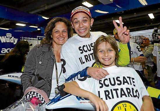 Mamma Stefania, Valentino e Luca Marini