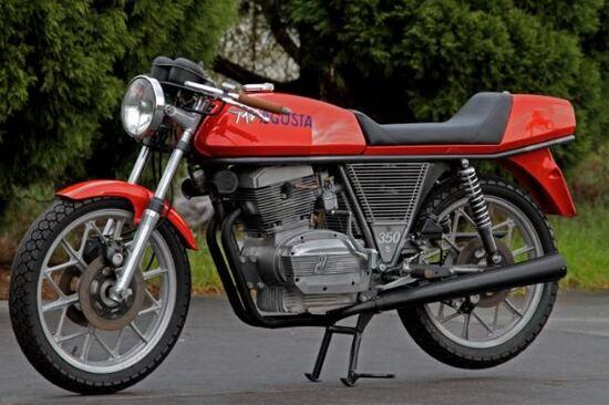 La MV Ipotesi 350, presentata nel 1973, è stata una delle prime moto di serie con ruote integrali in  lega leggera