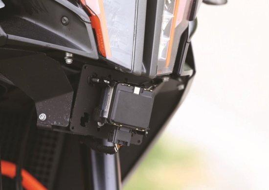 il radar Bosch installato su un prototipo KTM