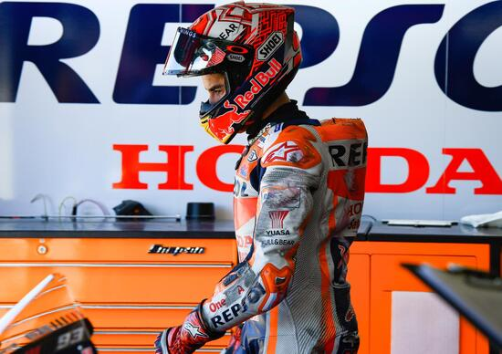 MotoGP, scontro Rossi-Marquez a Misano. Vale: Come in Argentina 2017, Marc: Meglio non sapere la sua intenzione